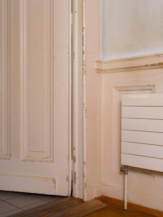 éléments de porte avec radiateur
