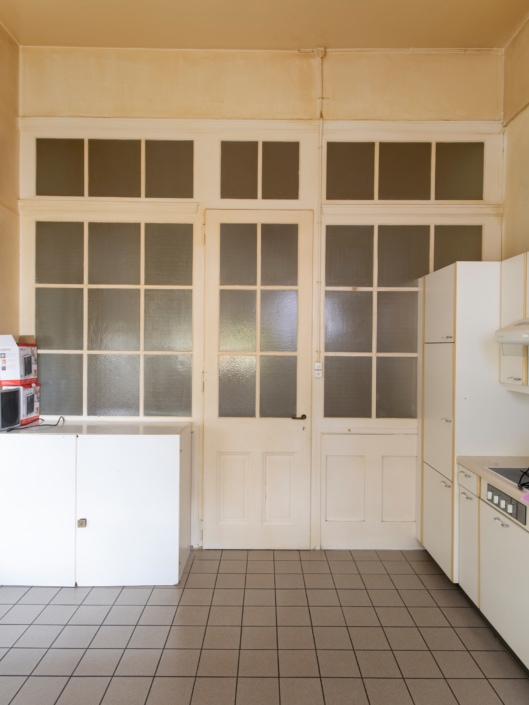 porte de cuisine fermée