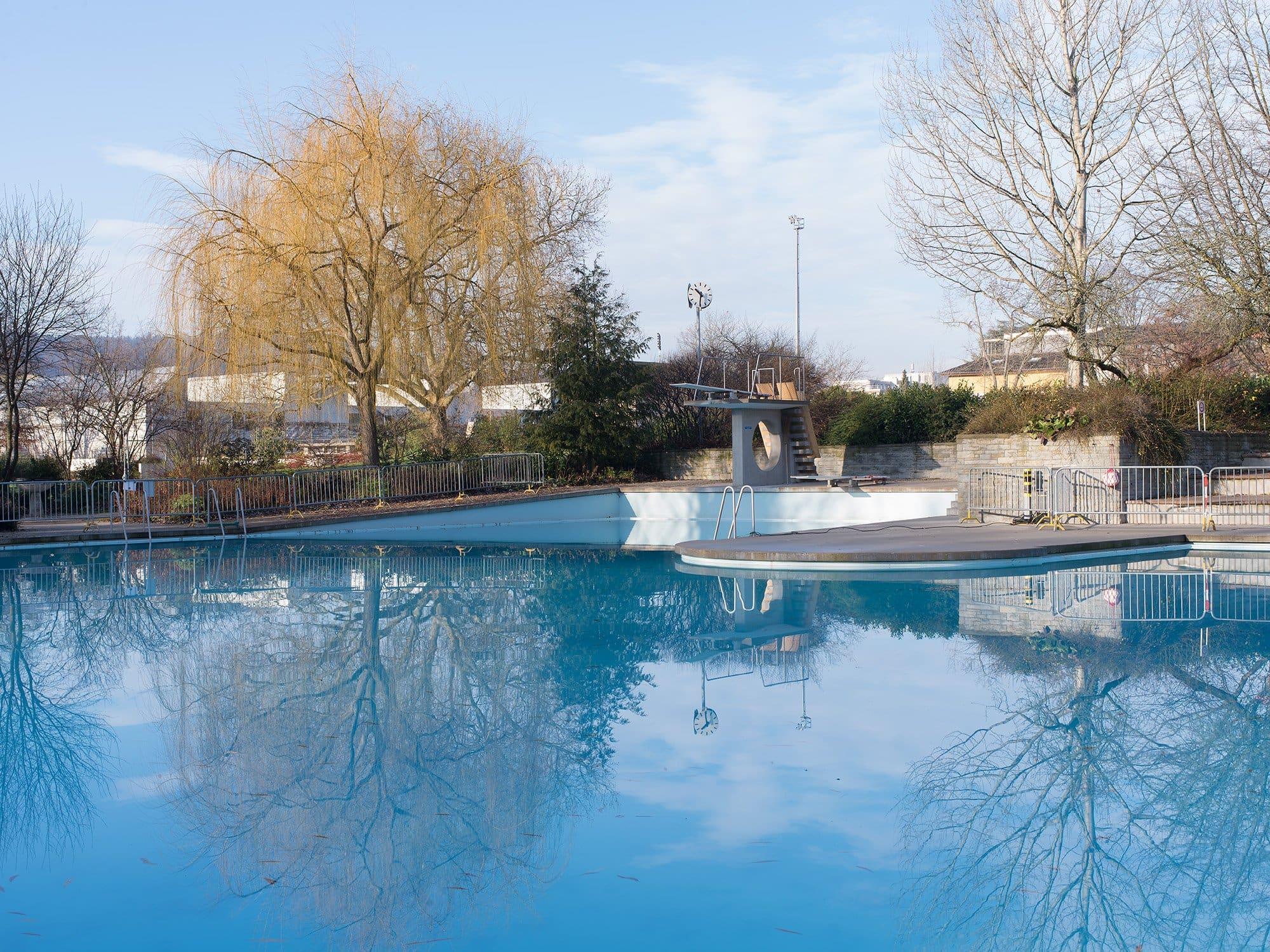 piscine en hiver au Letzibad(ZH)