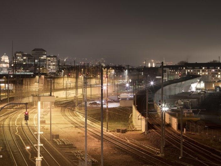 ligne diamétrale à la gare de zurich