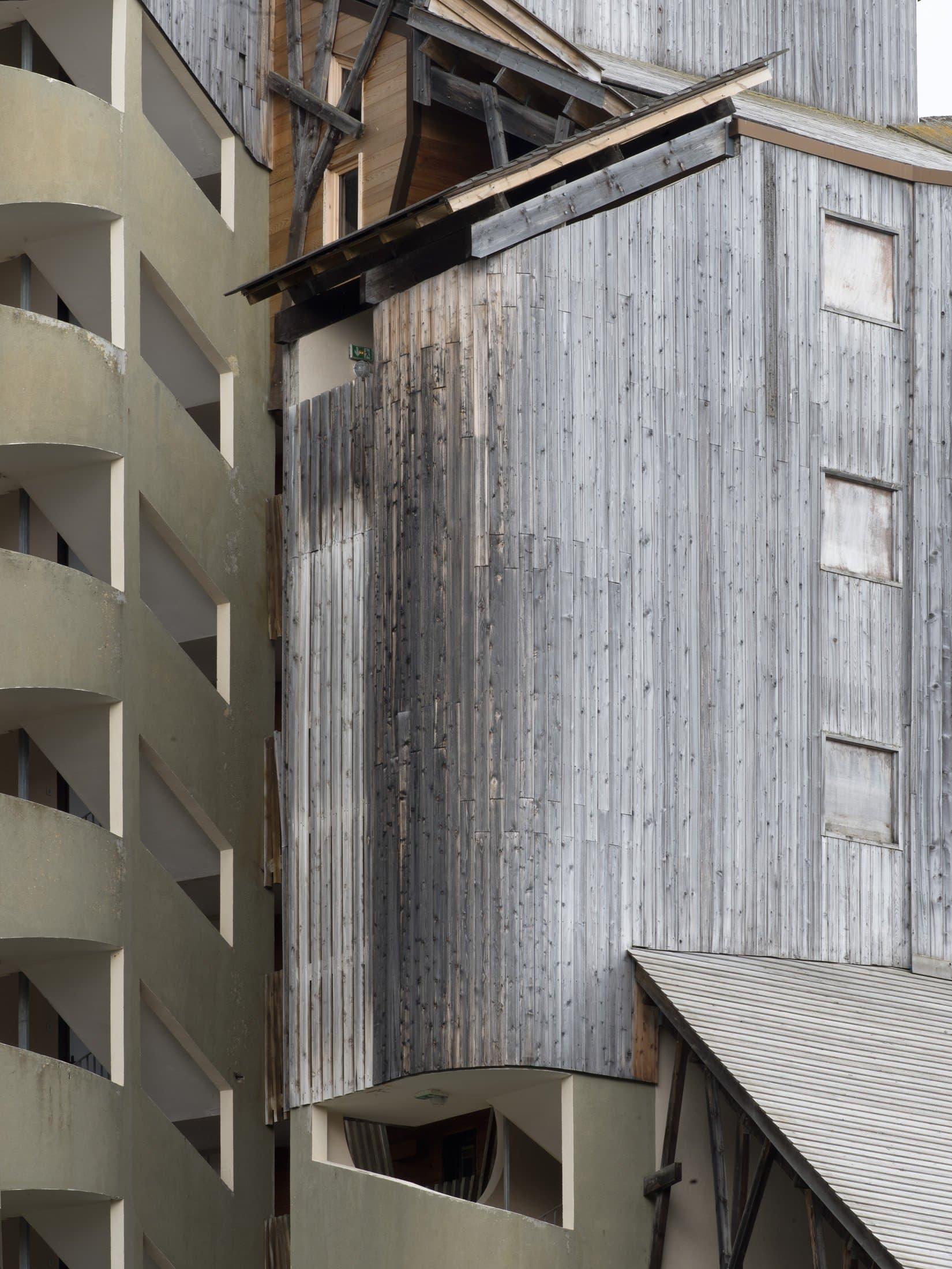 façade à Avoriaz imaginée par Jacques Labro