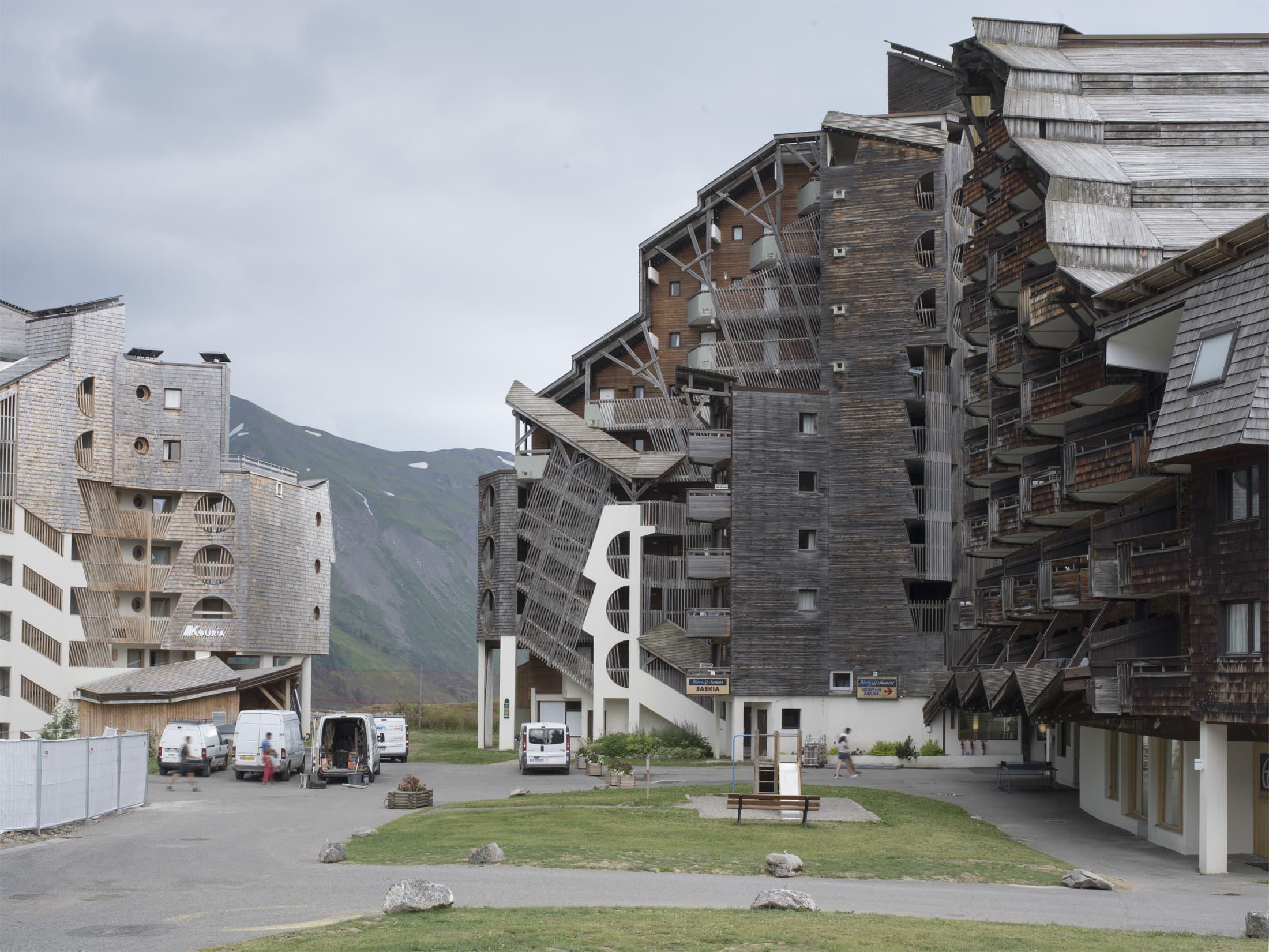 hautes construction dans la station d'Avoriaz