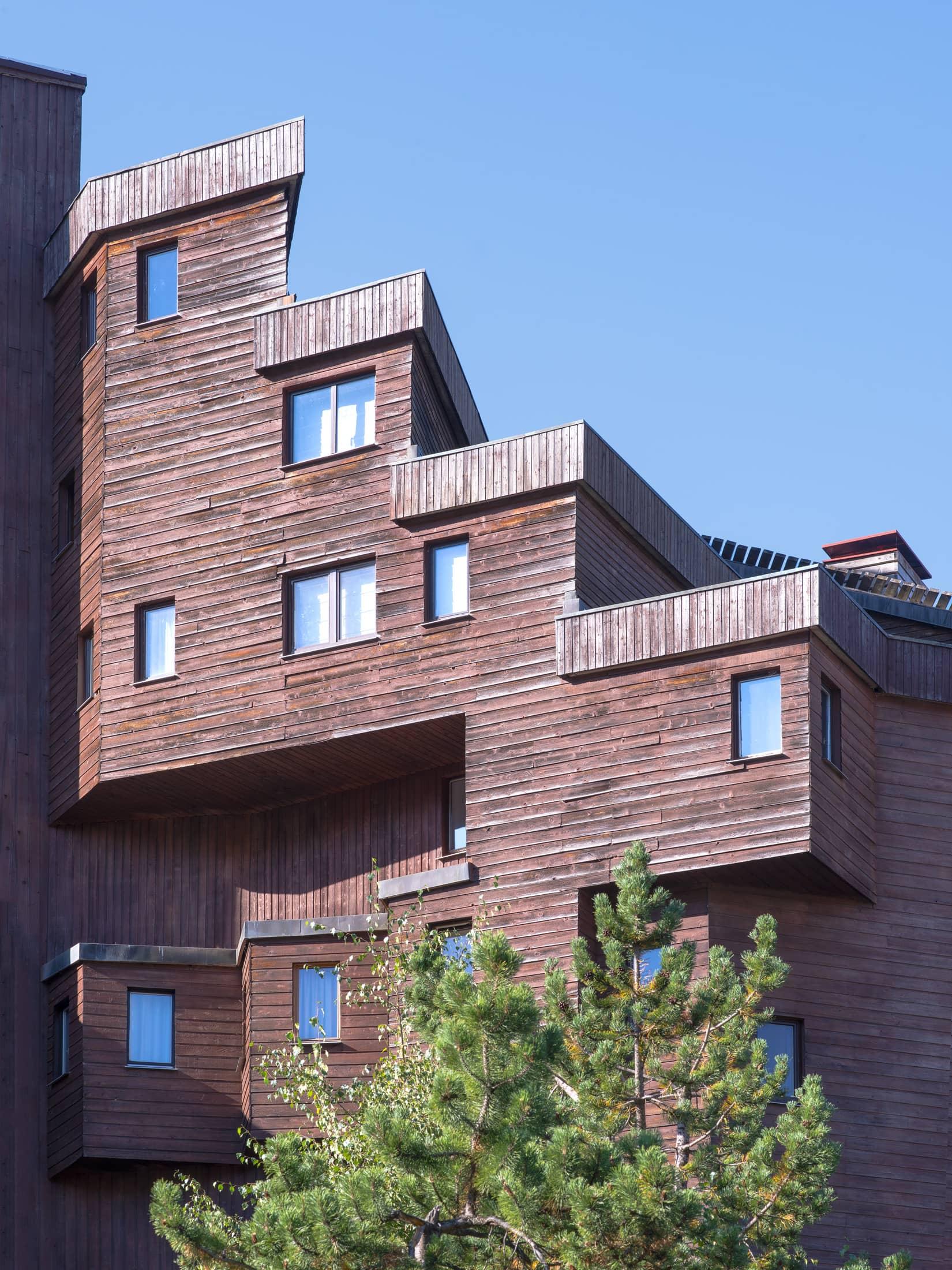 architecture boisée à Avoriaz
