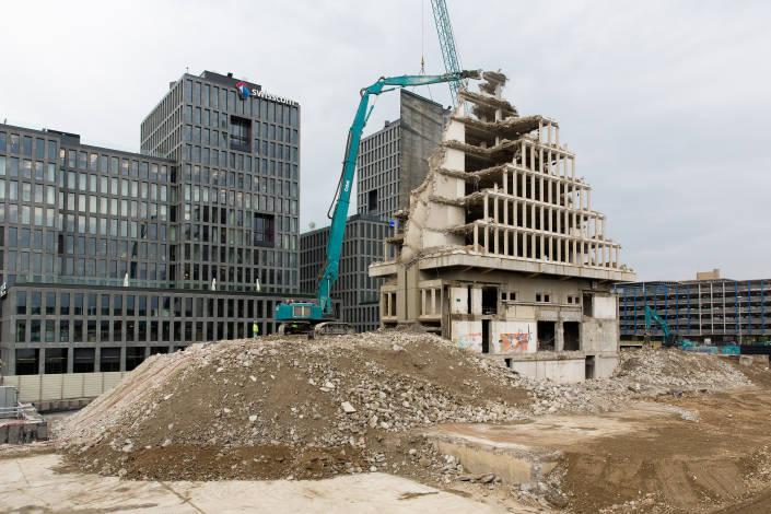 immeuble en phase de démolition