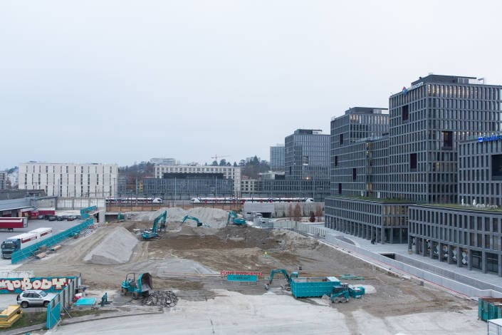 démolition d'immeuble en phase terminale
