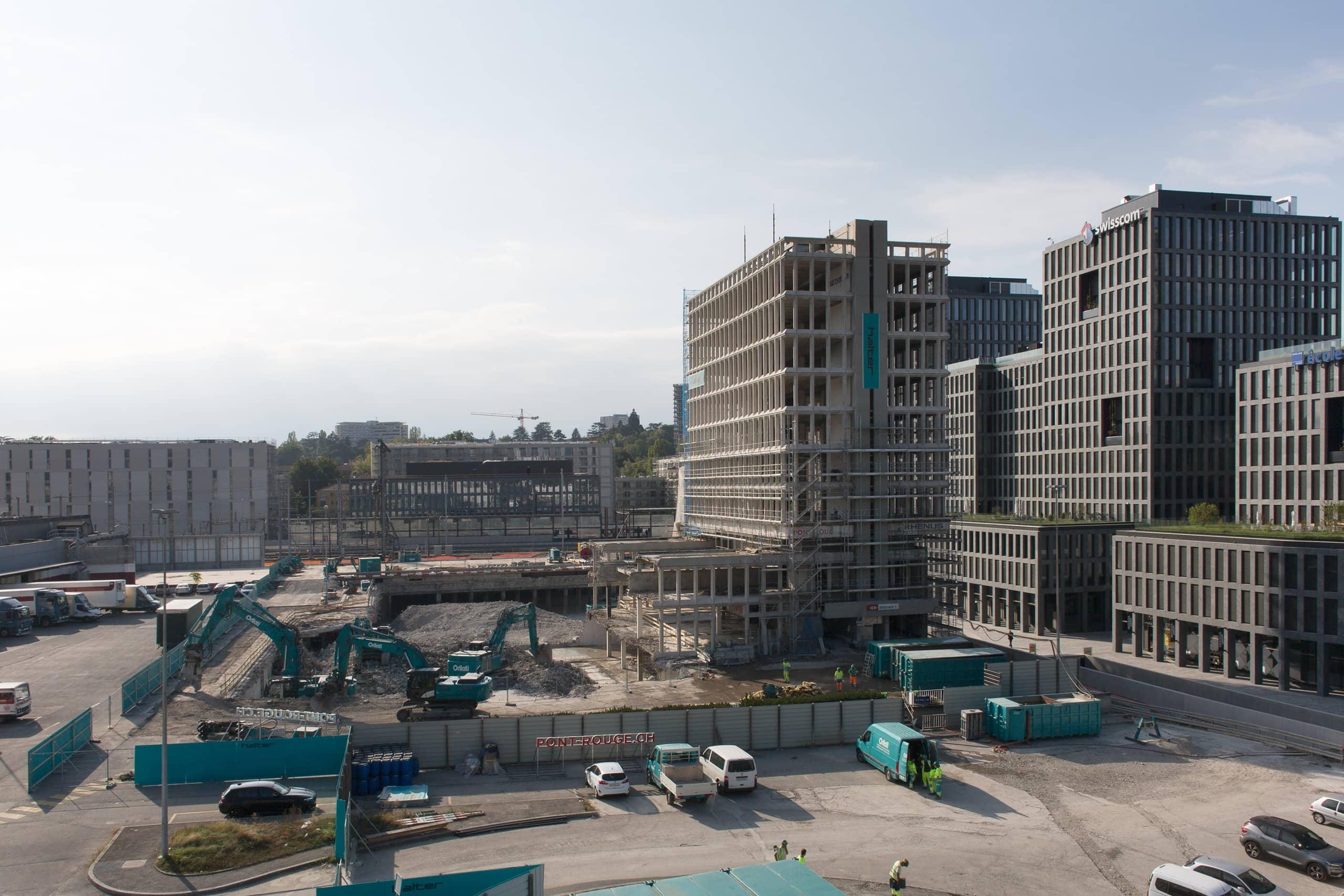 immeuble en cours de démolition