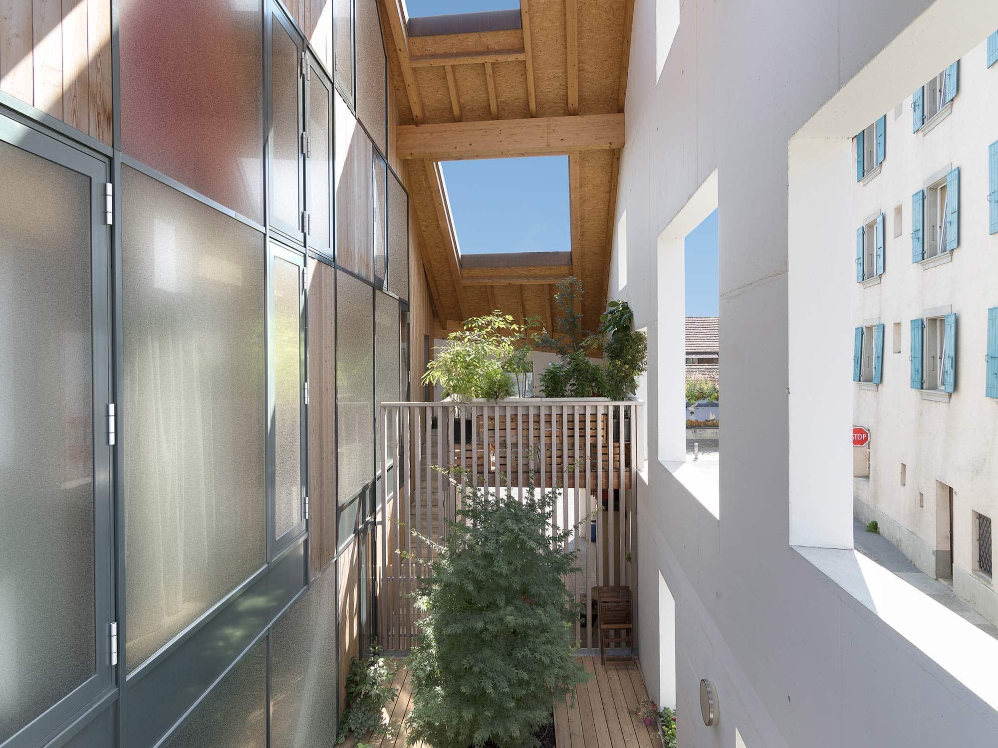 architecture suggérant un jardin d'hiver