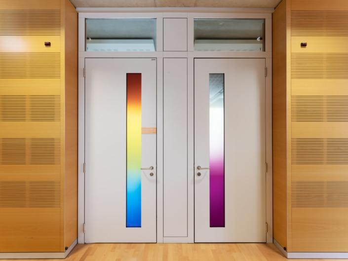 portes avec codes couleurs