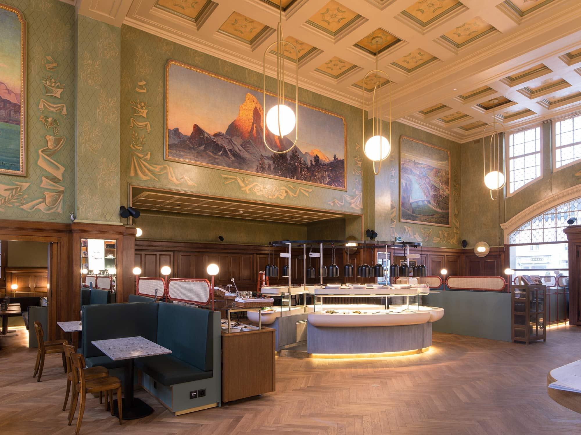l'architecture du buffet de la gare de Lausanne