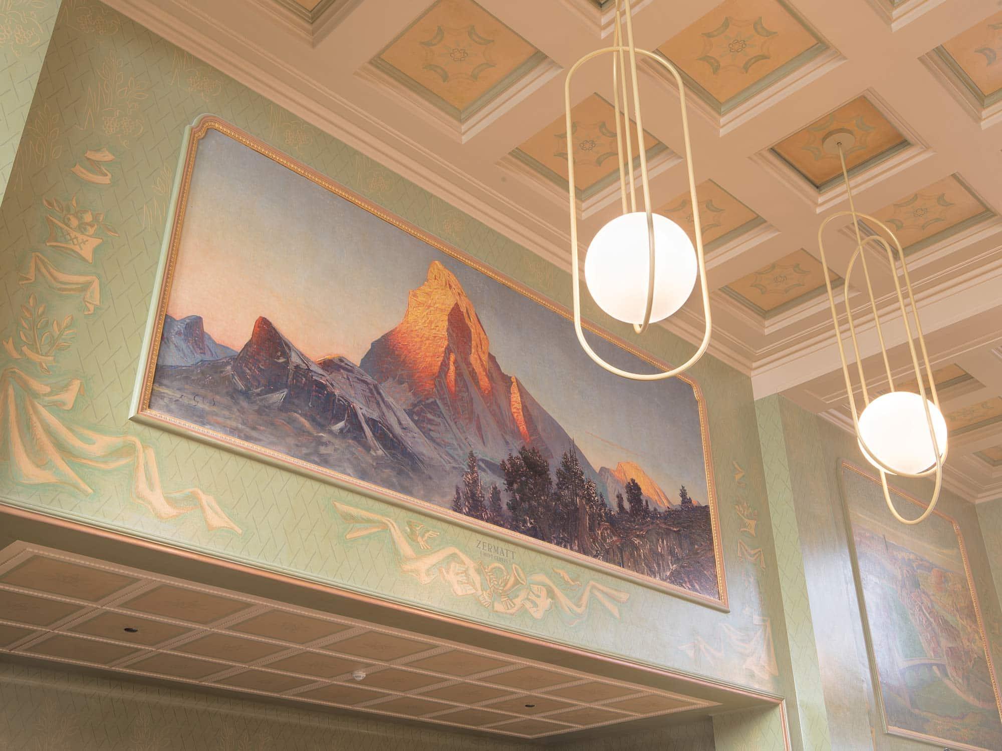 décoration architecturale de restaurant