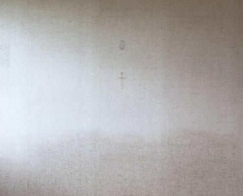 marque de crucifix sur un mur